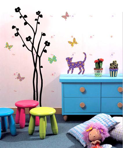 Papel pared infantil papelpintadoonline for Decoracion de paredes infantiles