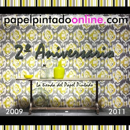 2º aniversario de la mayor tienda online de papel pintado