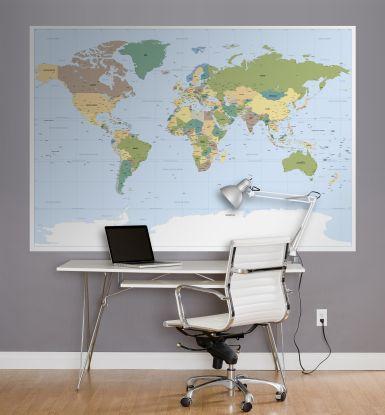 Fotomural Mapamundi 1-617 World Map Koma