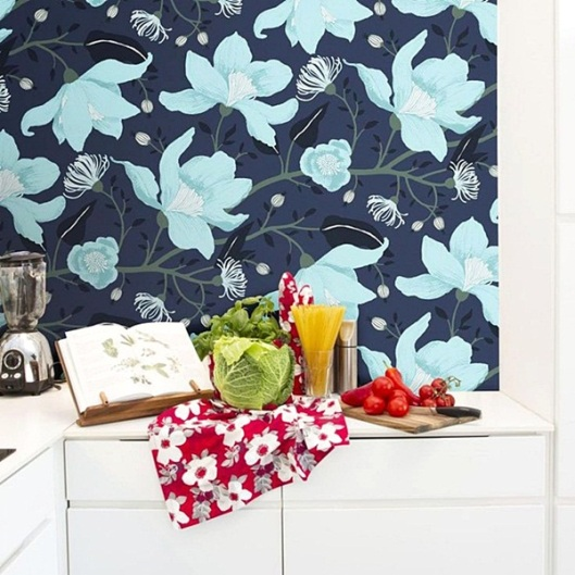 Papel Pared Floral Vallila Sarastus