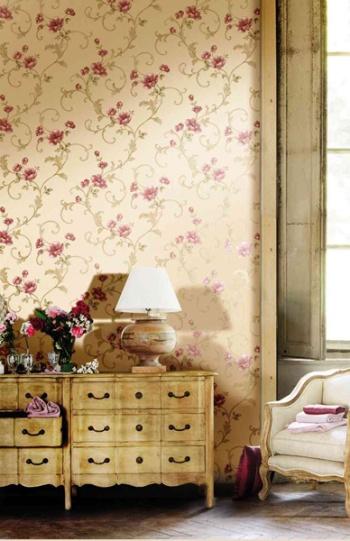papel para paredes diseño floral