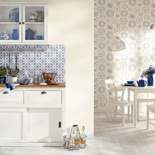 Papel pared papelpintadoonline - Papel de pared cocina ...