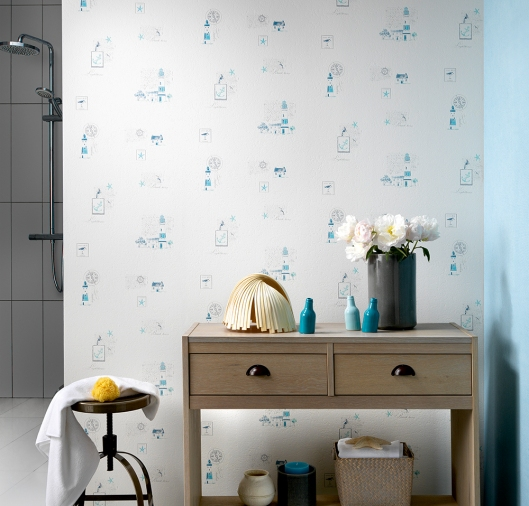 Papel Pintado Para Baños A La Maison