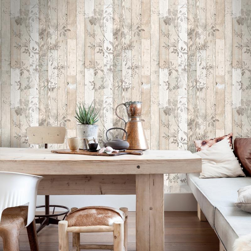 Papel pintado geometrico papelpintadoonline - Papel pintado madera ...