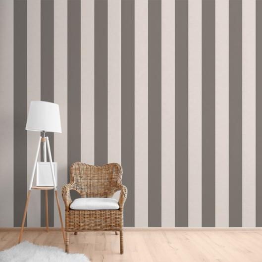 Papelpintadoonline papel pintado for Papel pintado rayas grises