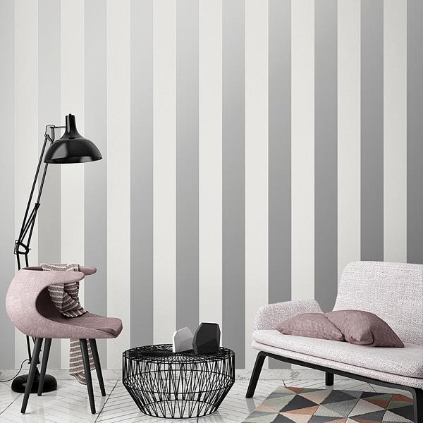 Tienda papel pintado papelpintadoonline for Papel pintado rayas grises