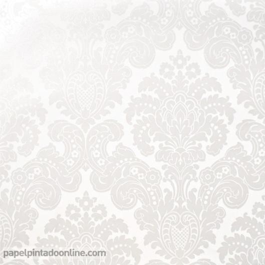 Papel Pintado Damasco Blanco Perla 5288-5