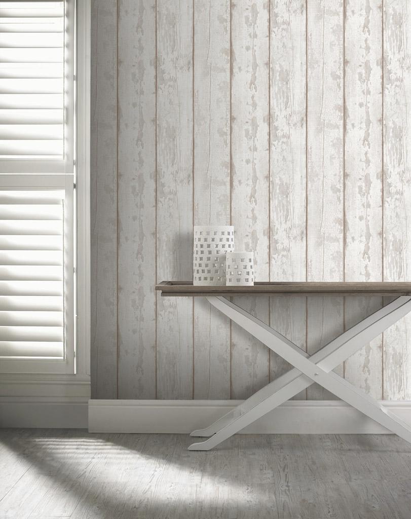 Papel pintado barato papelpintadoonline for Papel pintado madera blanca