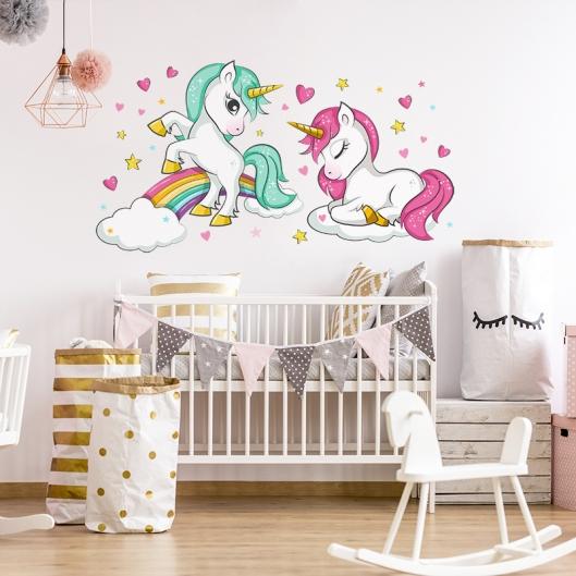 Vinilo Infantil Unicornios 3016
