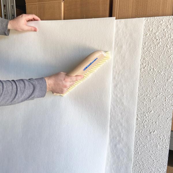 dos capas de papel pintado para gotelé